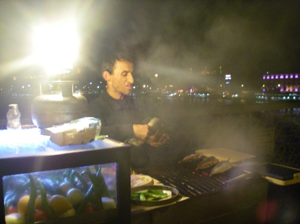 Forever moment - Fish sandwich, Istanbul at night