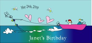 Janet's birthday image by Jill Badonsky