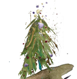 painted christmas tree